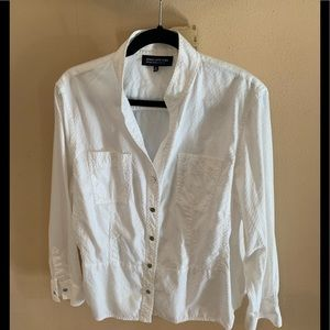 Jones of New York Crisp White Shirt